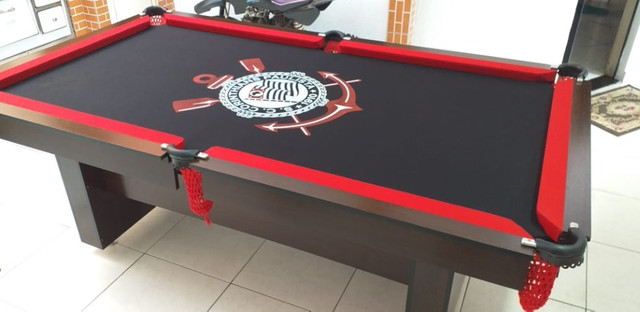 Mesa Encanto e Jantar Cor Preta Tecido Preto Logo Corinthians Mod. TZEY2044 - Foto 2