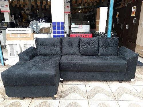 Peça Ja e Receba No Mesmo Dia!!Sofa Chaise 3 Lugares +Almofadas Novo Apenas 799,00 - Foto 2