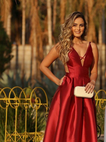 Vestido Longo Festa de Zimbeline Marsala com Cinto Chanel- Closet da May - Foto 2
