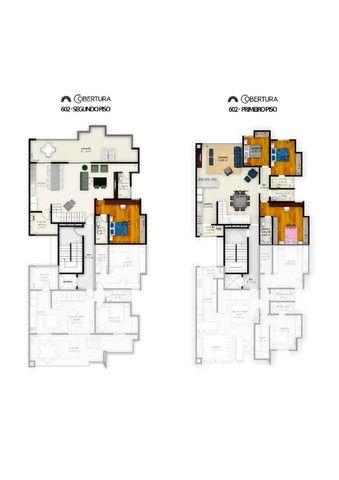 (J4) - Cobertura Duplex Alto Padrão com 4 vagas de garagem, elevador e varanda! - Foto 3