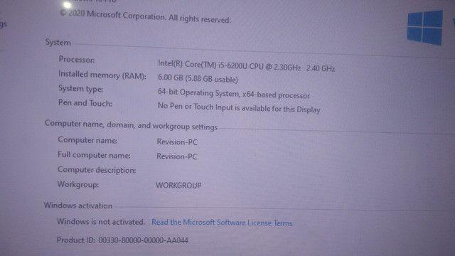 Vendo notebook i5 com monitor 24plg - Foto 3