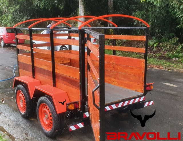 Conheça a BRAVOLLI ' Carretinha 2 eixos transporte com as nossas