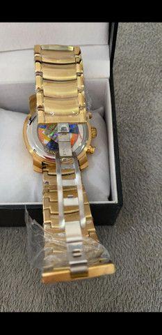 Relógio BVLGARI Skeleton Dourado a prova d'água - Foto 6