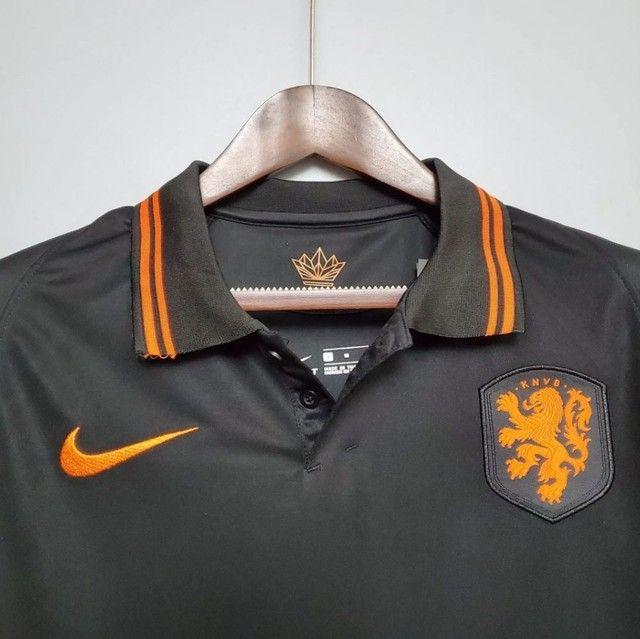 Camisa Seleção Holandesa 20/21 PRETA - Foto 2