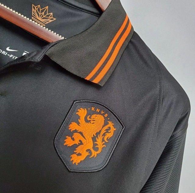 Camisa Seleção Holandesa 20/21 PRETA - Foto 3