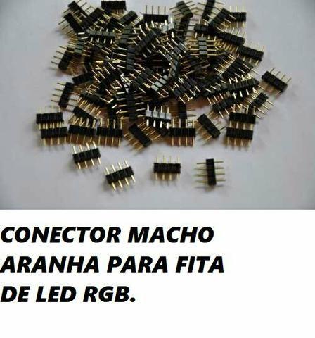 Kit 15x conector aranha para led RGB - Foto 2