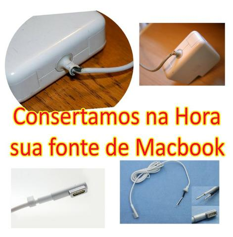 Conserto, reparo e troca de fonte MacBook MagSafe 1 e MagSafe 2