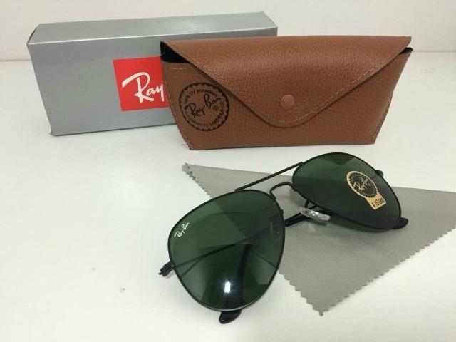 d3775ed47 Óculos Ray Ban Aviador Verde - Bijouterias, relógios e acessórios ...