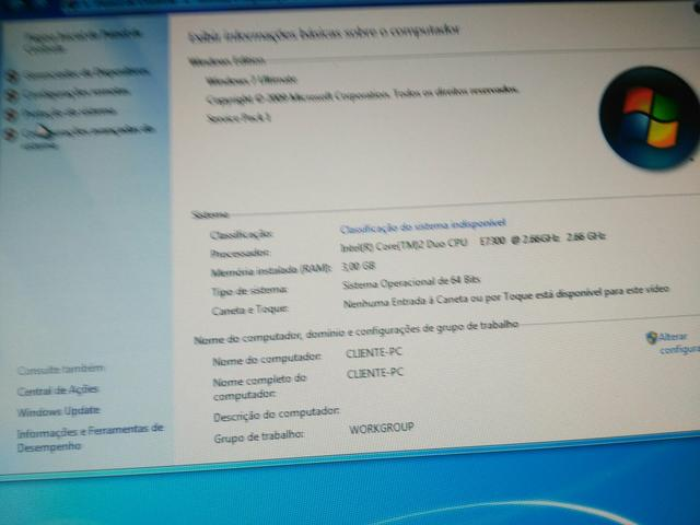 CPU core 2duo e Monitor Samsung