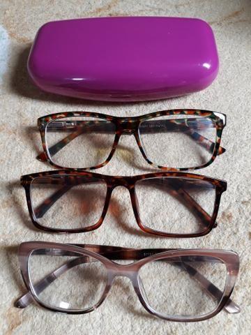 23c6900265585 3 armações para óculos de grau - Bijouterias