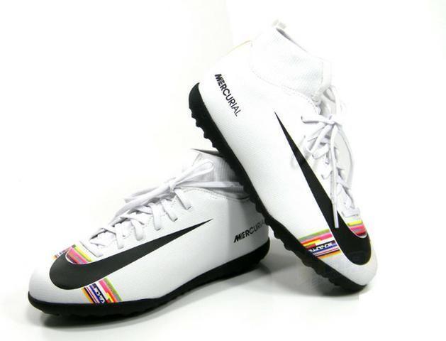 435ec452c94e0 Chuteira Nike Superflyx 6 CR7 Club DF Society branca infantil tamanho: 34 a  36