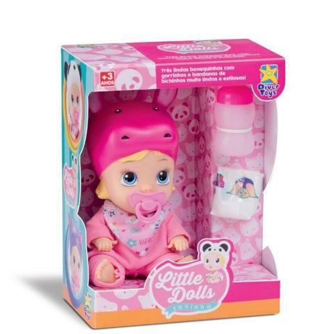 Boneca Bebê Little Dolls Alive Soninho Faz Xixi - Hipopotamo