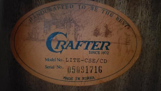 Violão Profissional Crafter Lite CSE/CD (não aceito troca) - Foto 4