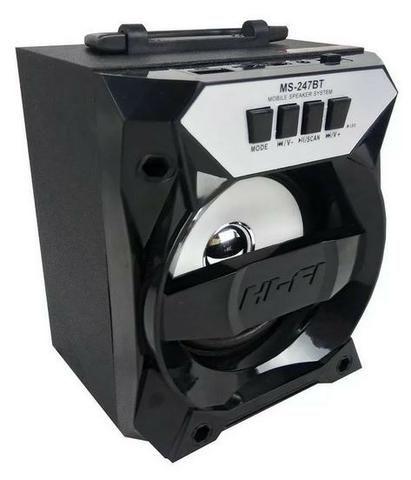 Caixa De Som Bluetooth Modelo Ms-247bt Bateria Recarregável Ydtech - SKU: 81928 - Foto 2
