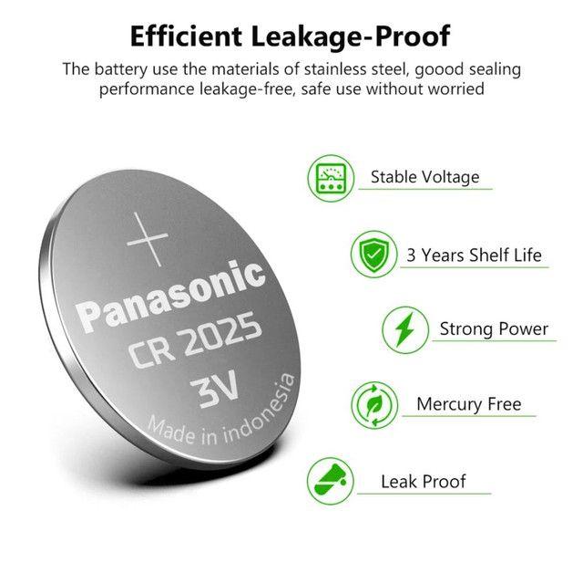Bateria Panasonic CR2025 lítio 3v 150mAh original preços especiais atacado - Foto 3
