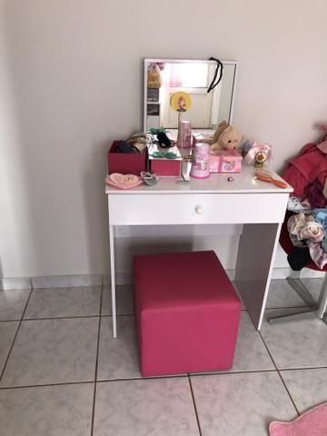 Penteadeira infantil com Puff rosa - Foto 5