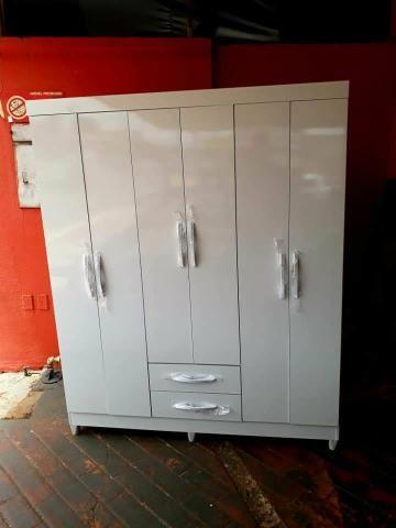 Guarda-roupa branco 6 portas Novo entrega grátis