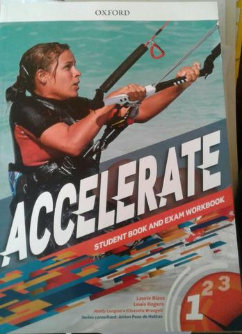 Livro Inglês: Accelerate 1 (Student book and exam worbook) - Oxford