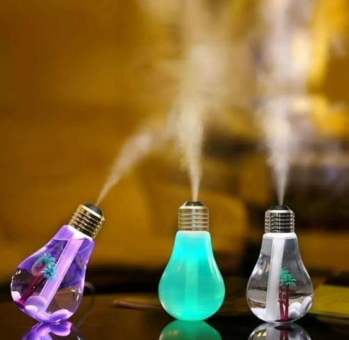 Umidificador De Ar Formato Lampada Aromatizador Luminária