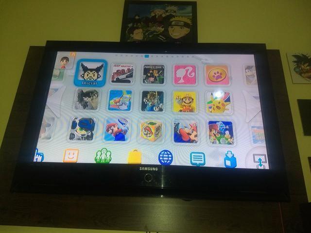 Nintendo Wii U com caixa + hd de 500gb com jogos + controle pró - Foto 6