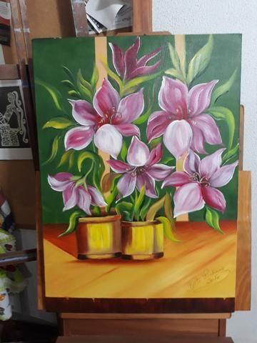 Curso de Pintura - Tecido, óleo e acrílica sobre tela - Foto 2