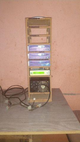 vendo ou troco por celular Torre de reproduzir CDs e DVDs mais uma antena aquário