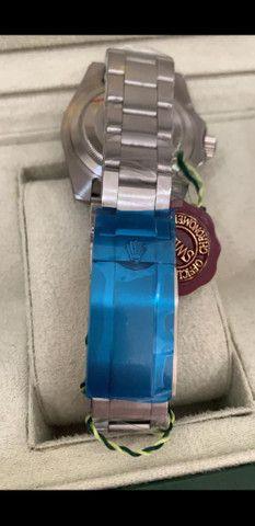 Relógio Rolex Submariner Fundo Preto Automático a prova d'água Completo - Foto 2