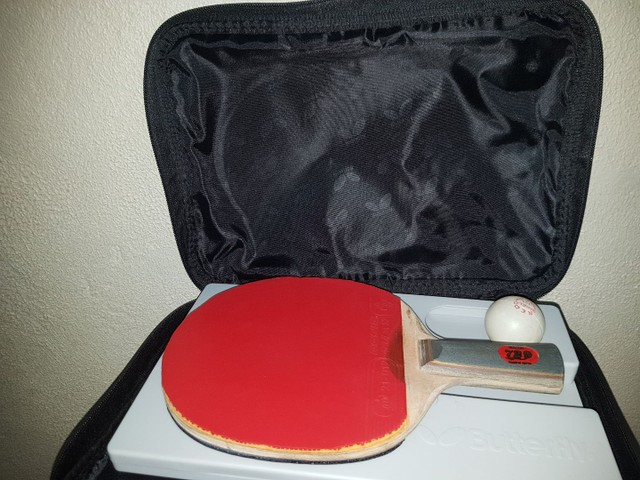 Raquete e case (tênis de mesa) - Foto 3