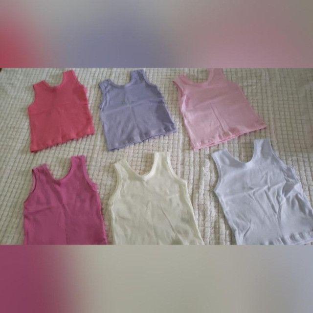 kits de camisetas e calças de algodão paea bebê de 0 a 8 meses. - Foto 5