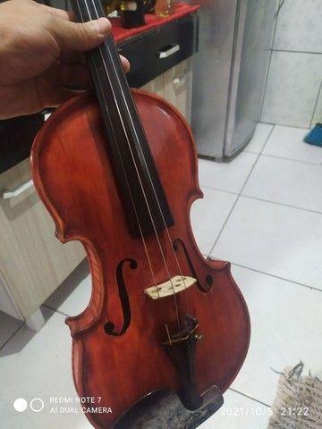 Violino artesanal na caixa - Foto 5