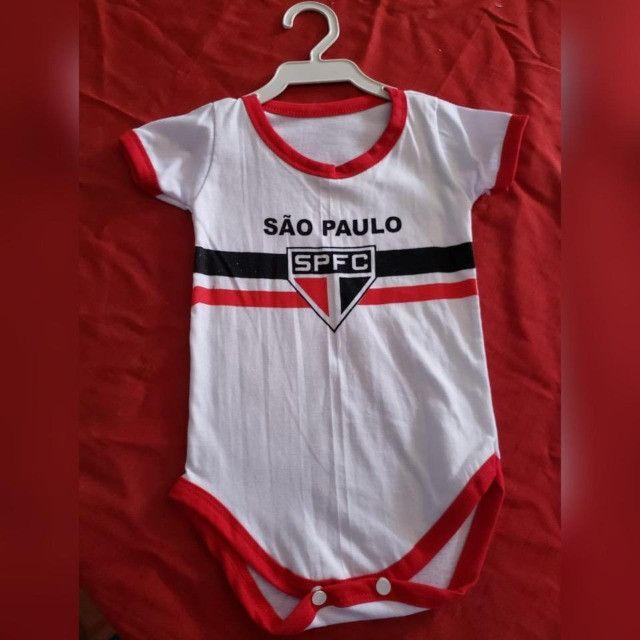 Bodys de Algodão Personalizados Infantis com Elastano! TIME`s - Foto 5