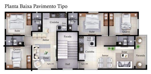 Apartamento no Cristo com 2 quartos e varanda. Alto Padrão!!! - Foto 2