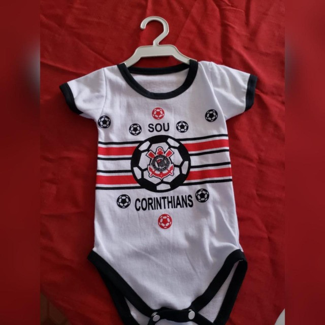 Bodys de Algodão Personalizados Infantis com Elastano! TIME`s - Foto 4