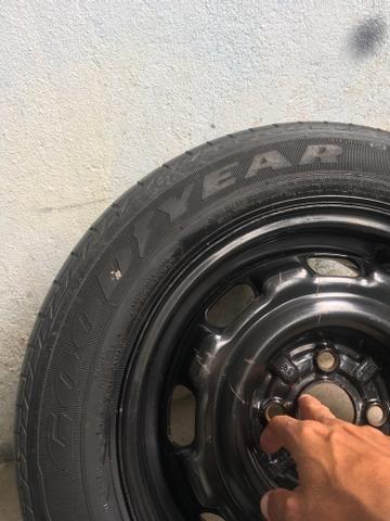 Stepe pra linha Volkswagen furacão 4 por 100 ,pneu 185/60/14 Goodyear