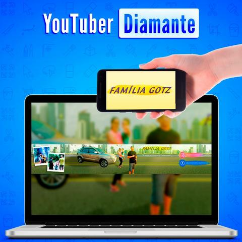 Youtuber Diamante | Identidade Visual Completa + Camisa, adesivos e cartões + 8 Bônus - Foto 4