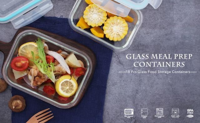 Conjunto 8 Potes De Vidro Com Tampa Neoflam Cloc Glass - Foto 6