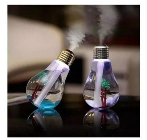 Umidificador De Ar Formato Lampada Aromatizador Luminária - Foto 2