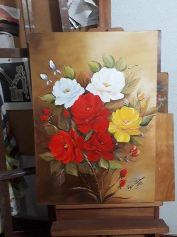 Curso de Pintura - Tecido, óleo e acrílica sobre tela - Foto 4