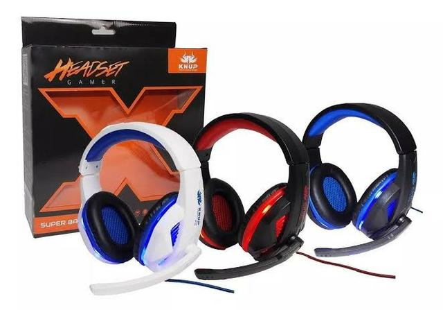 Fone Headset Gamer Pc Celular Ps4 Xbox One Knup P2 396