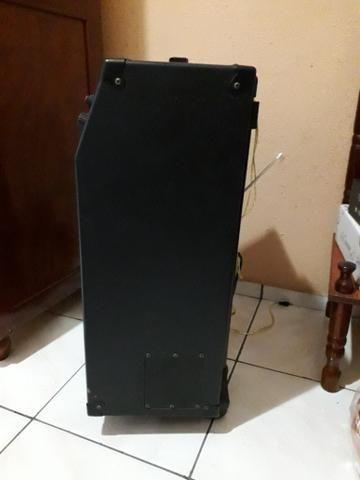 Caixa de Som Amplicada Com, bateria - Foto 4