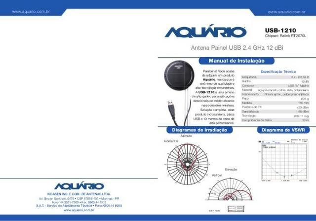 Antena Wi-fi Aquarios Painel Usb