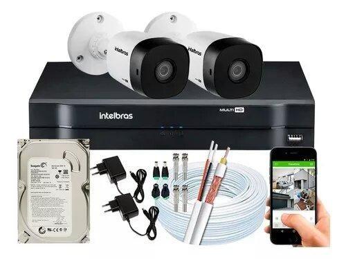 Kit Intelbras Instalado Monitoramento Interno E Externo Hd