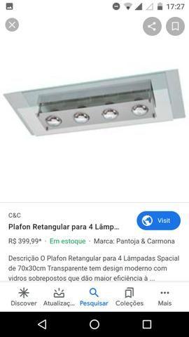 Pendente Luminaria Luxo (4 lâmpadas Osram)