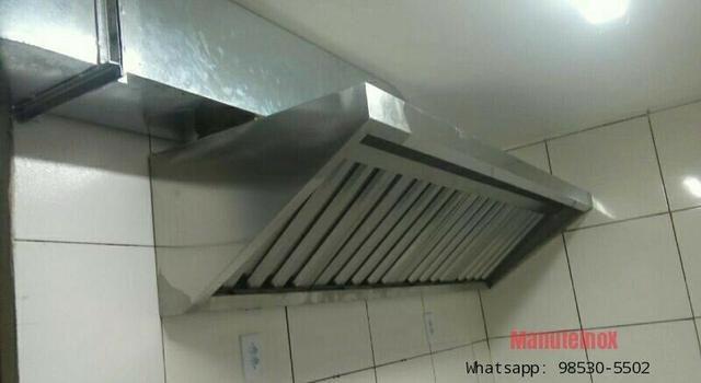 Coifas em inox para Restaurante, dutos e sistema de Exaustão - Foto 5