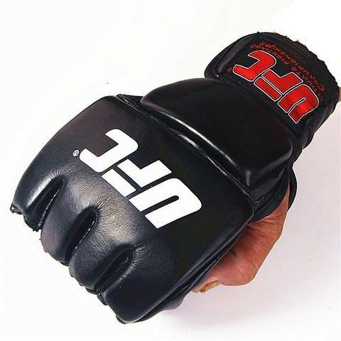 Par de Luva Couro preto Mma Ufc Vale Tudo Boxe Muay Thai Artes -Grátis Camisa J. Aldo - Foto 4