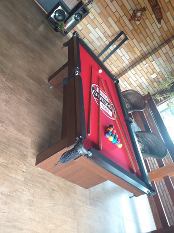 Mesa Encanto Redinha Cor Preta Tecido Vermelho Logo Grêmio Mod. JEGU0846 - Foto 2