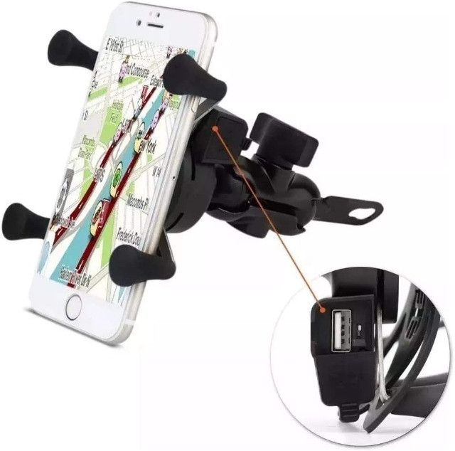 Suporte Celular Moto c/Carregador USB Garra Aranha- Imperium Informatica - Foto 4