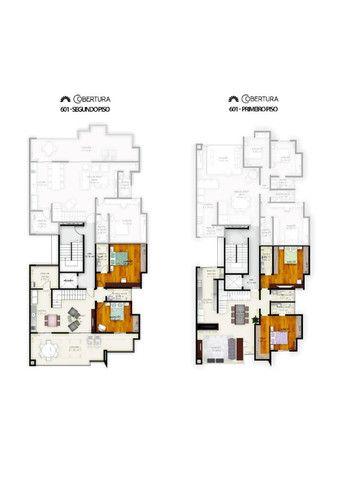 (J4) - Cobertura Duplex Alto Padrão com 4 vagas de garagem, elevador e varanda! - Foto 2