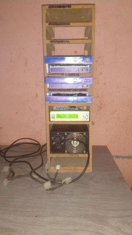 vendo ou troco por celular Torre de reproduzir CDs e DVDs mais uma antena aquário - Foto 3