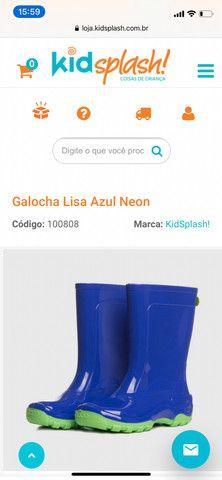 Galocha Lisa Azul Neon - Foto 3